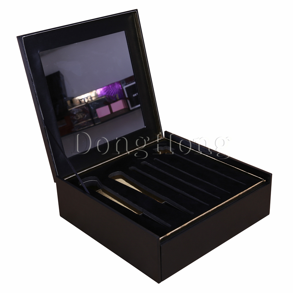Black Lacquered Comb Packaging MDF Box