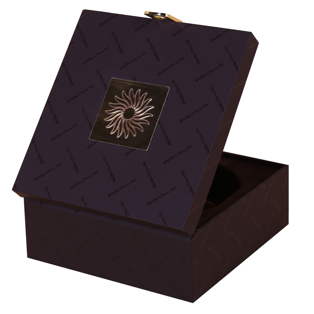 Square Hinged Lid Wooden Gift Box